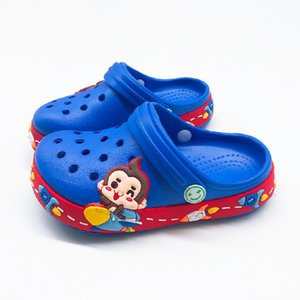 Estate Bambini Ragazzi Croc cartoon scimmia pantofole per ragazzi delle ragazze delicatamente impermeabile antiscivolo Hole bambini Scarpe spiaggia Indoor Slipper T200507