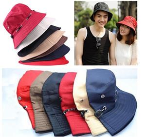 100% Algodão Balde Chapéu para homens mulheres unissex cor sólida Cap Pacote de Verão Ao Ar Livre Tampas de Viagem pescador chapéu de sol chapéus de caça de pesca