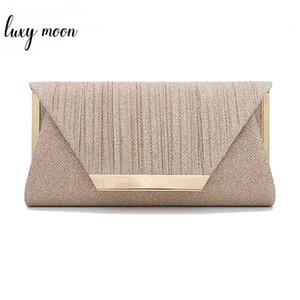 Luxy Lune Femmes d'embrayage de bourse de sac d'or Pochette de soirée Sacs épaule élégante pour les femmes 2019 Sac à main Bolsa ZD1436