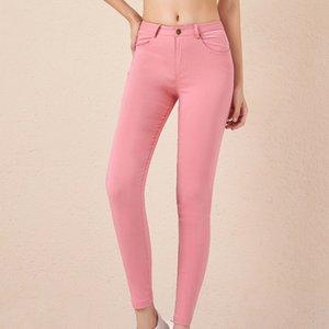 Kadınlar Anne Jeans Yüksek Bel Kadın Yüksek Elastik Artı boyutu Stretch Kadın İçin Jeans Denim Skinny Kalem Pantolon Yıkanmış