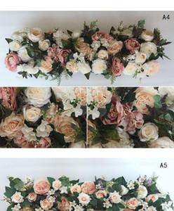 100X25cm Длинные Искусственное арка цветок строки таблицы цветов Шелковый цветок с Foam рамка бегуна центральным Свадьба декоративного фона