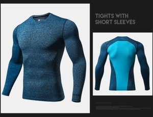 Mens Compression Tshirts Spring Autumn New Slim Fit Quick Dry Fitness Tops