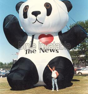 Personalizado inflável modelo de panda grande panda gigante dos desenhos animados da mascote do urso animal para publicidade