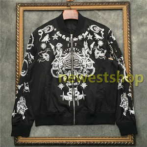 2020 new Designer brand Jacket mens 17 star skeleton totem print coat Sportswear jacket Mens Zipper baseball suit Clothes Outerwear coat