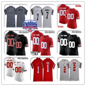 Personalizado 2019 Ohio State Buckeyes Colégio Ryan Shazier Martell KJ Colina Fuller Jeffrey Okudah Olave Burrow Teague OSU Fiesta Bowl Jerseys Crianças