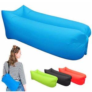 أريكة قابلة للنفخ في الهواء الطلق كيس الكسلان 3 Season Ultralight Beach Sleeping Bag Air Bed Lounger Sports Traiding Travel Sack X1A
