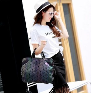 Geometric Sequin Luminous Women Handbag Quilted Laser Briefcase Laptop Bag New