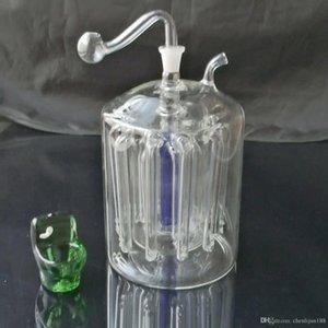Super 16 garra mute filtro de cachimba, bongs de vidrio al por mayor Tubos de agua de aceite Tubos de vidrio Plataformas de aceite fumar, envío gratis