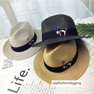 Leisure five-point grass flat eaves cat straw men's and women's summer sunscreen Beach Jazz gift hat holiday