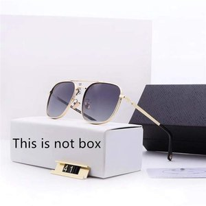 Lentes de sol de lujo gafas de sol de diseñador de cristal para hombre Mens Adumbral Lentes UV400 con la caja de alta calidad de la marca P41 5Color 2019 Nueva caliente