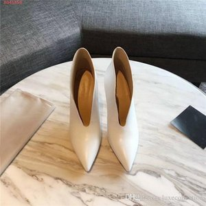 Pointed leather ankle boots for ladies Fall winter ankle boots with high heels and thin heels,heel-height 8.5 cm,Matching Packing