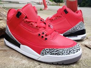 III 3 X DJ Khaled Grateful PE Hommes Retro Outdoor Chaussures Hommes Fire Red Designer de basket-ball de sport Baskets Sneakers Jumpman Chaussures
