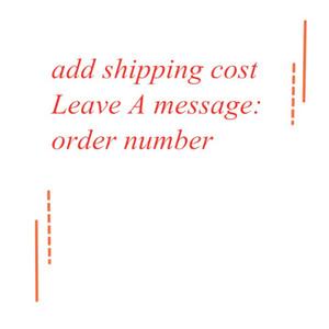 إضافة تكلفة الشحن، تكلفة الشحن اضافية، والدفع وترك رسالة لطلبك الساخنة