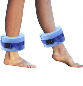 2pcs Foam Swim Aquatic Cuffs Water Aerobics Float Ring Exercise Set Ankles Arms Belts Quick Release Buckle Swim Fitness Training