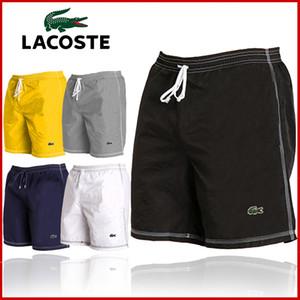 casuais esportes dos homens calções de praia calções venda quente do sexo masculino calções Lace Multicolor de secagem rápida na altura do joelho frete grátis Ea101 Lacoste
