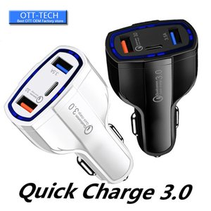 QC3. 0 USb Quick Charge Car charger 35W 7A Type c Port Car chargers auto Power adapter для iphone 11 x samsung ipad android phone gps
