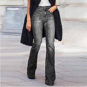 Frauen Designer Jeans lose Art für Dame Bootcut Hosen Mode-Marken-Wait Jeans Luxus Zipper Jeans dünne lange Hosen