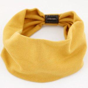 Cotton Solide Turban Knoten Headwrap Sport-elastische Yoga Haarband Breite Mode Häkelstoff breite Kopfband für Frauen Strick
