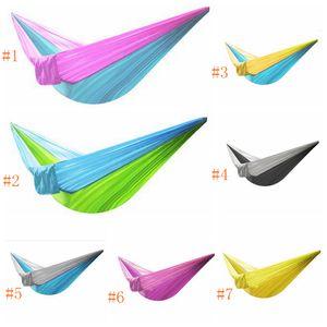 Patio balançoires lit gadren Parachute corde hamac 230 * 90 cm Parachute Parachute Tissu Hamac suspendu intérieur chaise hamac LJJZ468