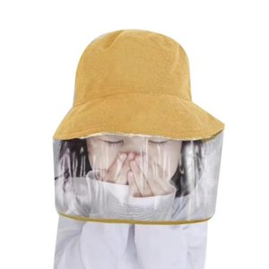 Outdoor hat Protective Safety Cap For Children Anti-dust Anti-fog Protection Hat For Outdoor Activities Full Transparent Mask