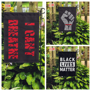 15styles i can't breathe Black Lives Matter Flag yard flag outdoor home for parade party supplies garden flag 45*30CM FFA4123-1