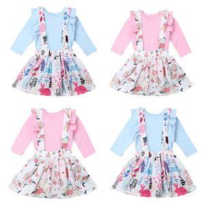 Newborn Infant Baby Girl Clothes Cotton Romper Top Rabbit Strap Dress Outfit Set