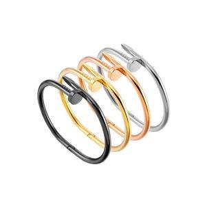 Prego luxo Pulseira de Ouro Bangle para mulheres dos homens Boca Aberta charme pulseira y prata preto nenhum strass Atacado Hot Casal Jewelr DHL