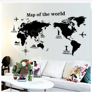 60CM X 90CM ملصق الحائط خريطة العالم عن البيت غرفة المعيشة الديكور ملصقات ملصق نوم ديكور ملصقات الحائط خلفية جدارية