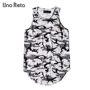 Una Reta Майка мужская новая мода повседневная камуфляж печати расширенный хип-хоп топы лето Марка рукавов мужчины топы