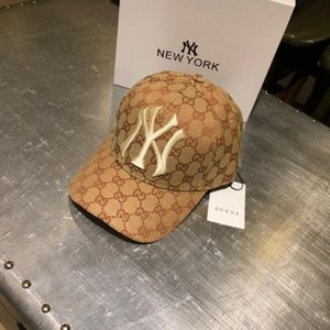 Hight Qualität Baseball-Kappen Baumwolle Buchstaben NY Kappen Sommer Frauen Sonnenhut im Freien verstellbare Männer Kappen Männer Snapback Cap mit Label
