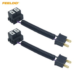 FEELDO 2PCS Car H7 Керамическая розетка для тяжелых условий эксплуатации Керамический разъем жгута проводов для адаптера # 5948