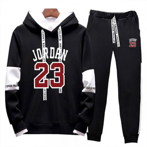 sale set Hot Marca Sweatsuit Treino Homens hoodies calças mulheres Mens Clothing moleton Casual Desportivo Treino Sweat Suit 68098 #
