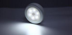 Led Night Light Sensor sans fil détecteur de lumière mur Lampe automatique Marche / Arrêt Closet batterie d'alimentation 6 LED infrarouge PIR batterie de mouvement alimenté