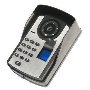 Dokunmatik ekran 7 inç parmak izi şifre uzaktan kumanda kilidini video kapı zili Gece görüş su geçirmez elektronik görsel akıllı kapı zili