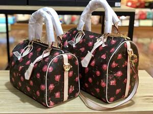 La tendencia Joker Boston Bolsas mochilas de piel Mujer Nueva Moda flor vieja almohada bolsa de hombro inclinado Leboy diseñador de bolsos de lujo