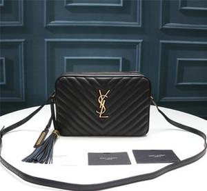CALIENTE superior de la bolsa 2020 bolsa de diseñador Lou cámara en cuero acolchado, bolsa de la cadena diseñador de moda, lujo bolsa lapso de inclinación de las mujeres, 23 * 16 * 6 cm, con la caja