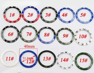 40mm céramique et titane Insert montre Bezel Kit Fit automatique 43mm Mens Watch Case New haute qualité Cadrans Insert Montre Accessoires P349