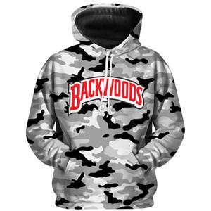 Backwoods Camouflage con cappuccio Streetwear uomini e donne Felpe Adatti a lettere Harajuku Pullover di personalità