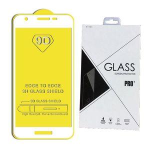 غطاء كامل 9D 21D واقي شاشة من الزجاج المقسّى AB Glue Edge to Edge لهاتف Samsung Galaxy A2 CORE M40 M50 S10E 100PCS / RETAIL PACKAGE