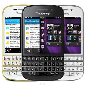 Ricondizionato originale Blackberry Q10 3,1 pollici dual core da 1,5 GHz 2 GB di RAM 16 GB ROM 8.0MP fotocamera tastiera Qwerty astuto sbloccato il telefono mobile 10pc