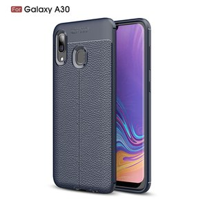 Slim Fit Ultra Thin Carbon Fiber Case for Samsung A30 Leather PU Soft TPU Silicone Rubber Bumper Shockproof Phone Back Cover