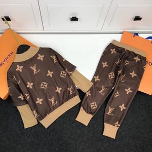 Baby Boy roupas 2pcs simples campus Marca bens Tide bordados pullover Nova listagem-A1