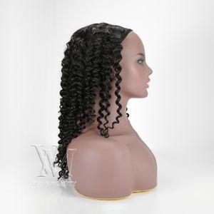 بيرو 130٪ الكثافة U الجزء الباروكات ريمي الشعر العذراء غريب مجعد 3A 3B 3C البشرة الانحياز الأسود الطبيعي شعر الإنسان الباروكات للنساء