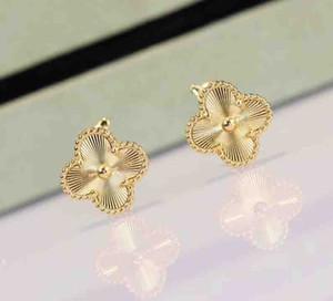 여성 결혼 선물 보석 무료 배송 PS8614을 위해 도금 된 18K 진짜 금메달 S925 스털링 실버 꽃 펜던트 귀걸이