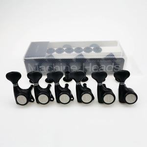 Gitar Makine Başlar / Yükseltildi sürümü Kilitleme String Tuning Anahtar Pegs Tunerleri Elektrogitarlar Siyah