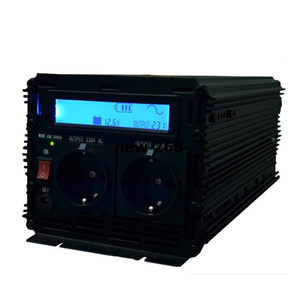 Freeshipping High efficace LCD display inverter onduleur à onde sinusoïdale pure 12v à 220v 230v 2500w (5000wPeak) avec télécommande