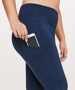 "Lady Home Pants Women's Yoga Fast & Free 7 8 Tight II Nulux 25"" Gym Lu
