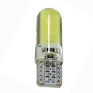 ARABA 1 ADET T10 194 2825 WY5W W5W COB LED Silika Jel Su Geçirmez Kama Işık Araba Işaretleyici ışık okuma Kubbe Lambası Oto Park ampuller 12 V