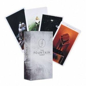 79pcs The Fountain Tarot Illustrated Deck Outros Produtos e Partido Guia da Família Jogo de tabuleiro 79pcs The Fountain Tarot Illustrated De R510 #