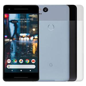 Original Refurbished Google Pixel 2 5.0 Zoll Octa-Core 4GB RAM 64/128 GB ROM Android 8.0 entriegelte 4G LTE Smart-Handy-freies DHL 1pcs